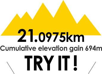 21.0975km Cumulative elevation gain 694m TRY IT!